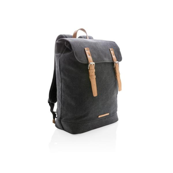 Canvas laptop backpack PVC vrij