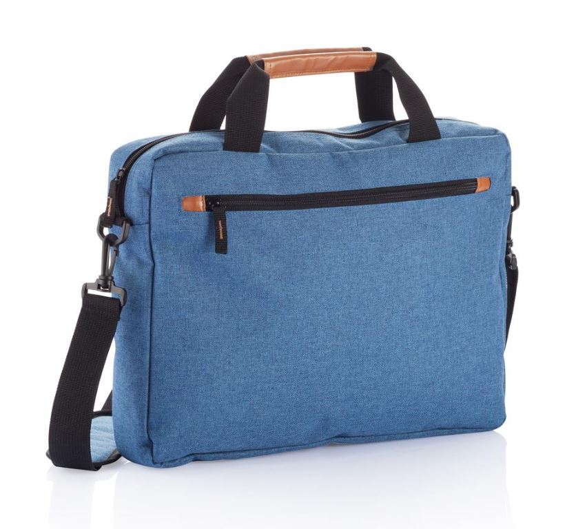 Fashion duo tone laptop tas