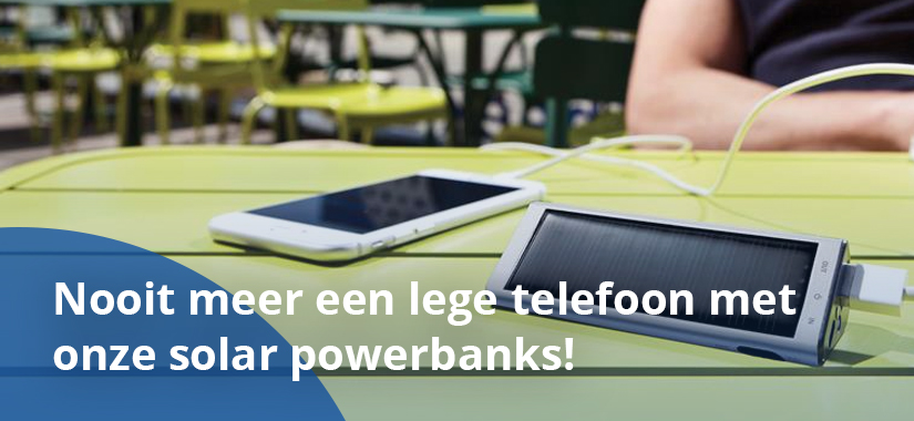 Solar powerbanks bedrukken